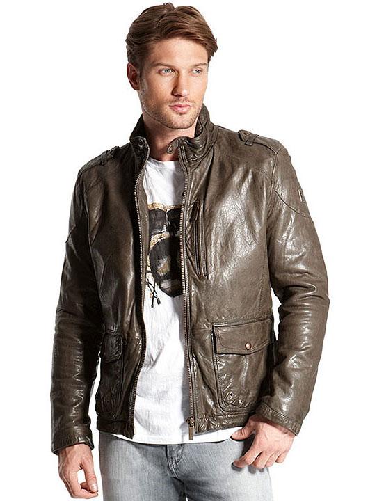 мужские кожаные куртки фото и цена